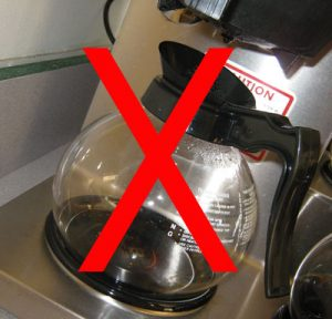 No sale of Baristador coffee if you use a dripolator